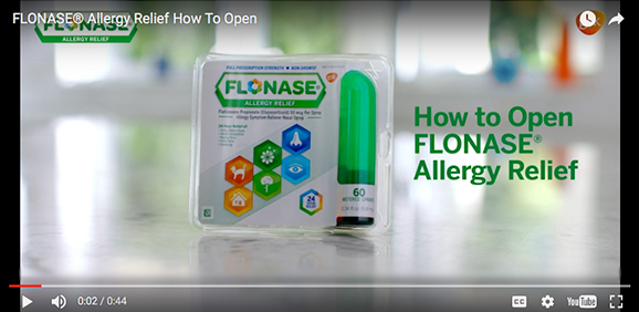 Opening FLONASE® Allergy Relief